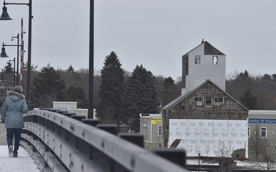 The granary may be heading back to its original west side site in Sturgeon Bay. It was moved across the Maple-Oregon Bridge to the east side on March 29, 2018. Tina M. Gohr/USA TODAY NETWORK-Wisconsin
