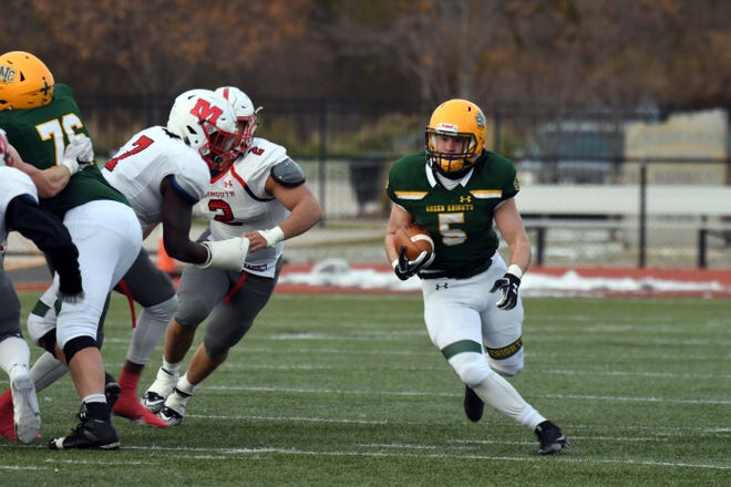 Former Green Bay Notre Dame running back Nate Ihlenfeldt has played a key role as a freshman for St. Norbert College this season.