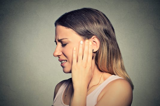 Tinnitus is the perception of noise — typically described as a ringing or buzzing sound.