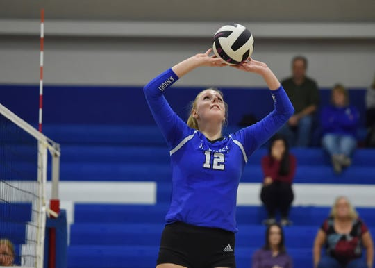 St. Joseph's senior Lauren DeLo was honored as Class AA volleyball Player of the Year.