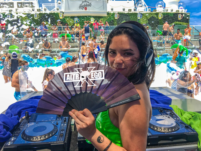"Guam-based DJ Zodiac Nat performed at ""It's the Ship"" 2018, a music festival cruise."