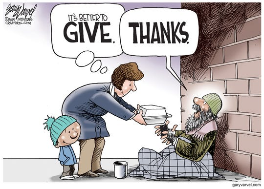 This Thanksgiving remember those who are less fortunate and give.