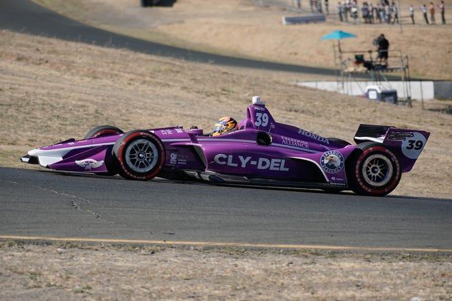 Sep 16, 2018; Sonoma, CA, USA;  Indycar driver Santino Ferrucci (39) during the Grand Prix of Sonoma at Sonoma Raceway.