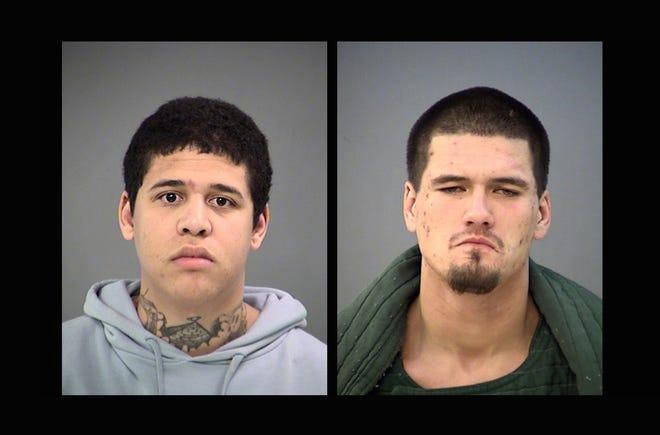 Ronald Tucker Jr., left, and Joseph Gonzalez are accused of murder.