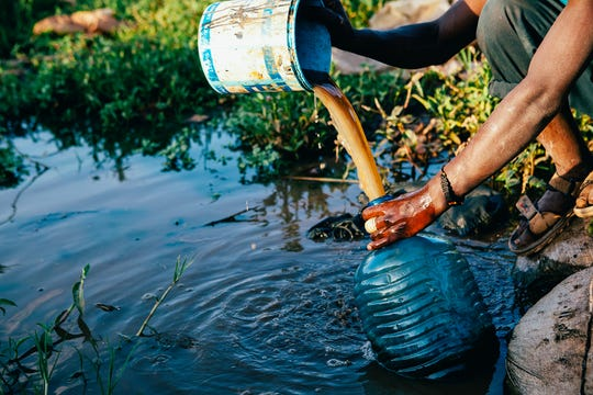 People worldwide are sometimes forced to collect water that often isn't even safe to drink.