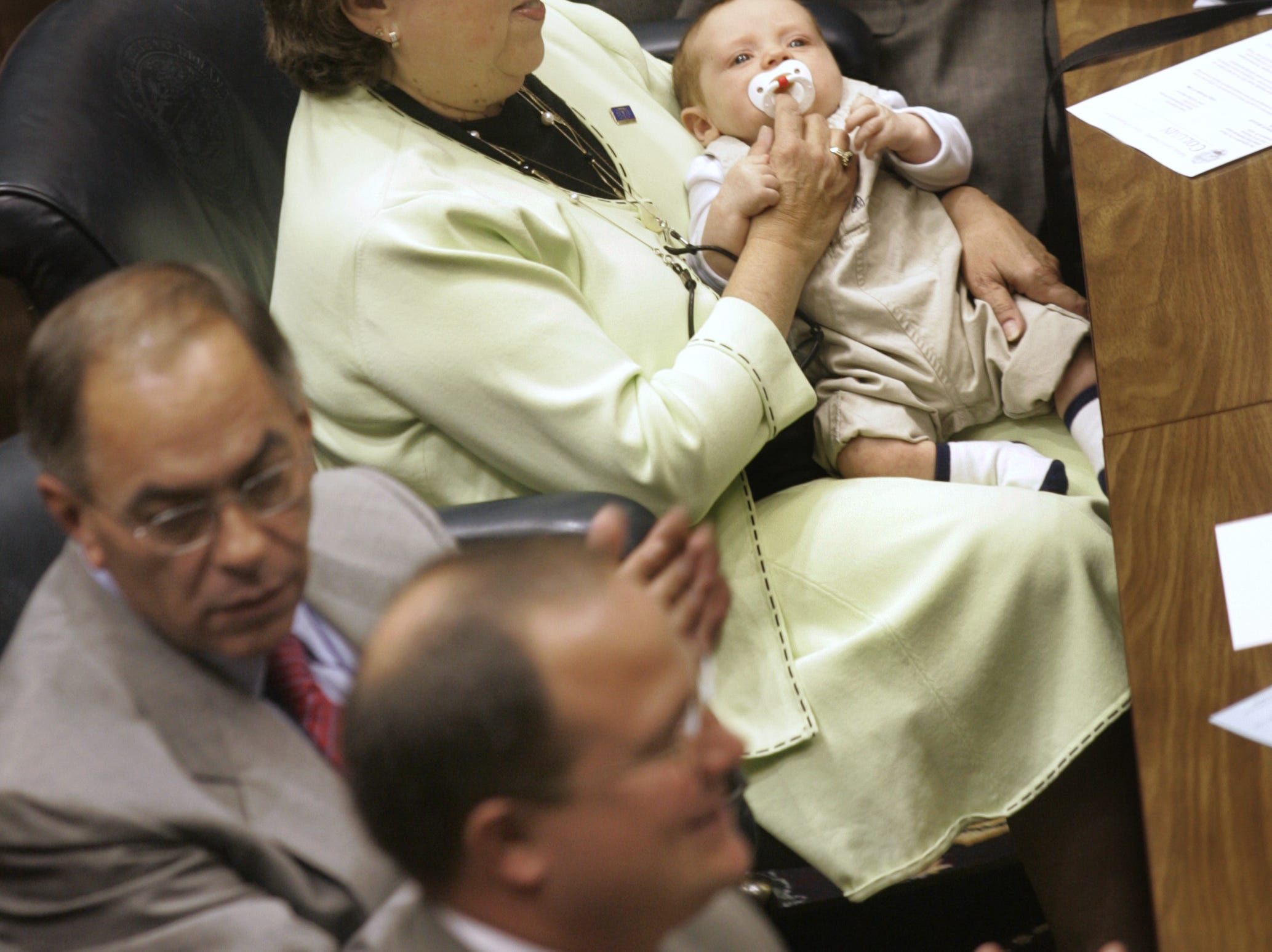 Families, including Representative Cleo Duncan's two-month-old grandson Duncan William Gardner (cq), visited during organization day at the Statehouse, Tuesday, November 21, 2006.   (Kelly Wilkinson / The Indianapolis Star)