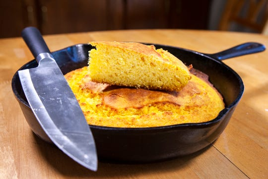 The 'Sgt. Major's' Cornbread is seen on Sunday, Nov. 18, 2018, at the Press-Citizen test kitchen, in Iowa City.