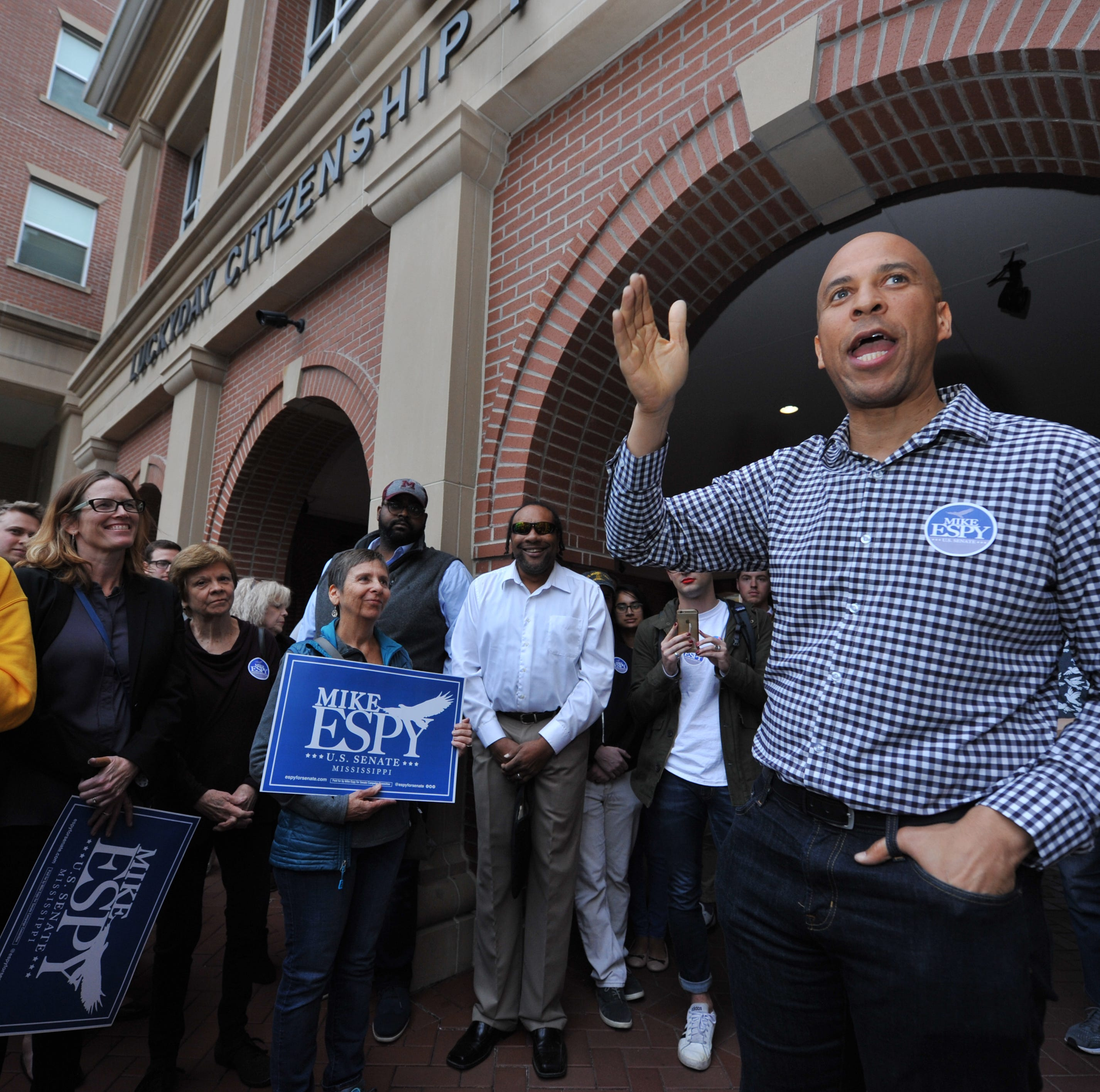 Sen. Cory Booker stumps for Mike Espy in Hattiesburg