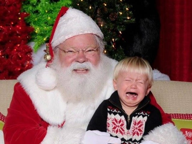 Kirk Cardio of Knoxville posed with Santa at the Fantasy of Trees. He is the son of Joe and Kayla Cardio.