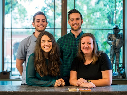 Alex Eberhart, top left, Alex McGavic, top right, Mary Holland Fulghum, bottom left, and Emily Miller are among this year's Knoxville Fellows.