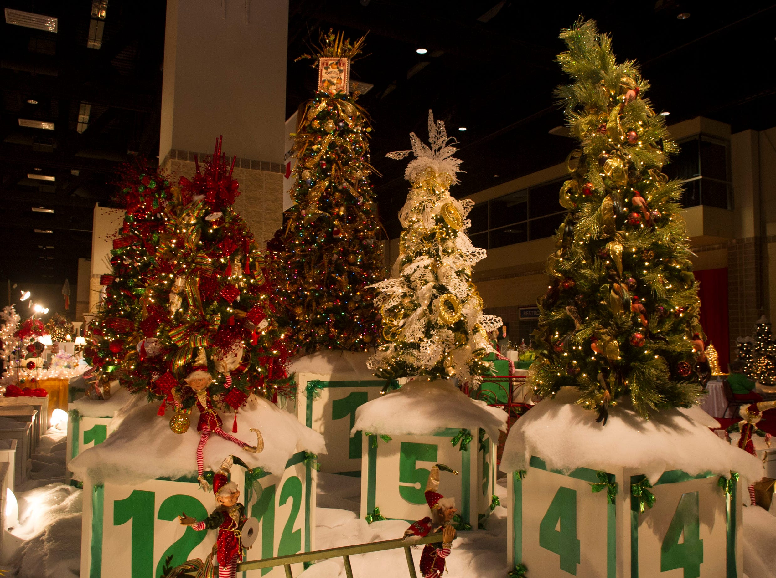The Twelve Days of Christmas tree display.The 28th Fantasy of Trees once again transforms the downtown Knoxville Convention Center into a winter wonderland of decorated trees, gingerbread houses, holiday shops and children's activities, helping move Thanksgiving week into the Christmas season. ( J. MILES CARY/NEWS SENTINEL )