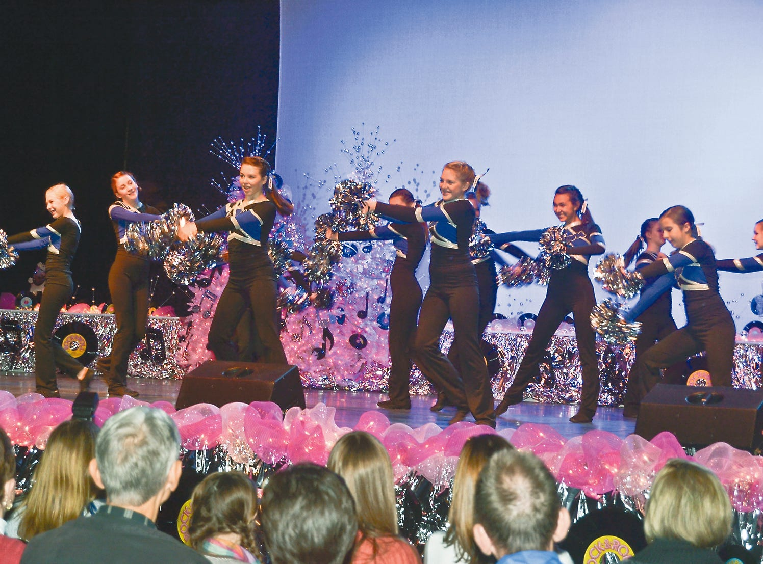 The Karns Middle School dance team performs at Fantasy of Trees, November, 2011.