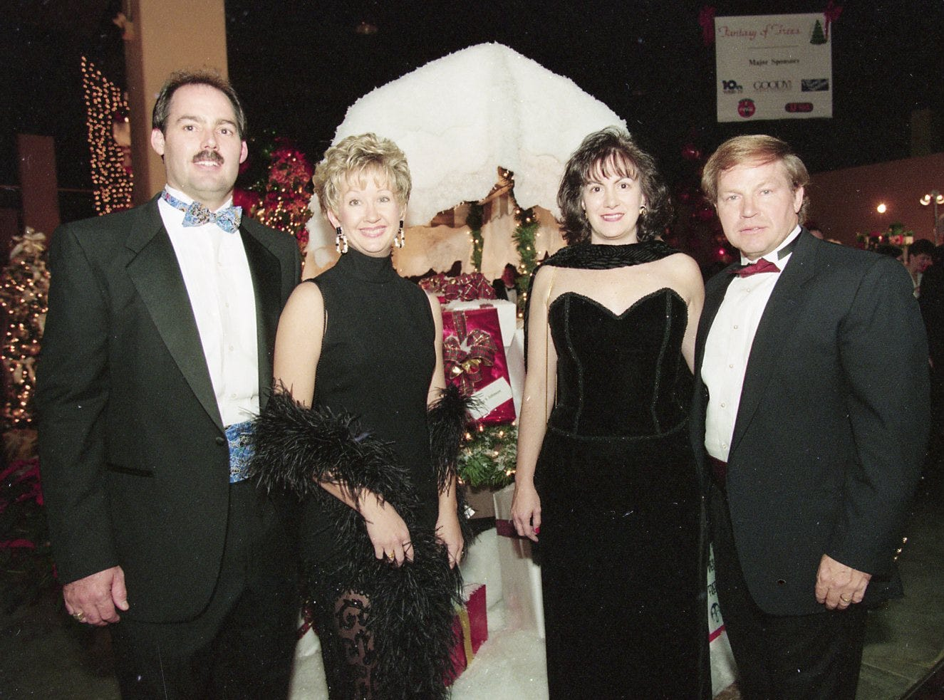 Roger and Karen Gilbert and Michelle and Ernest Brewer at the Fantasy of Trees opening night gala, November, 1995.