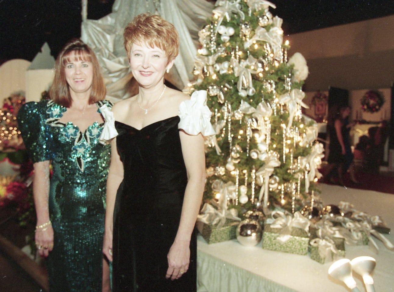 June rainwater and Yvonne Henderlight at the Fantasy of Trees gala, November, 1995.