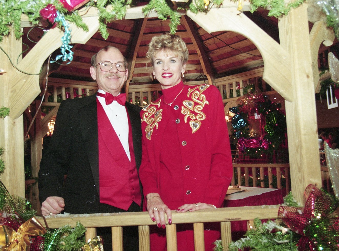 Brent Young and Susan Gregory at the 1995 Fantasy of Trees opening night gala.