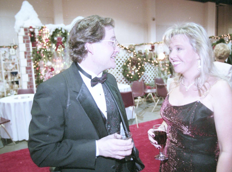 David Kushubar and Dr. Beth McCloud at the 1997 Fantasy of Trees opening night gala.
