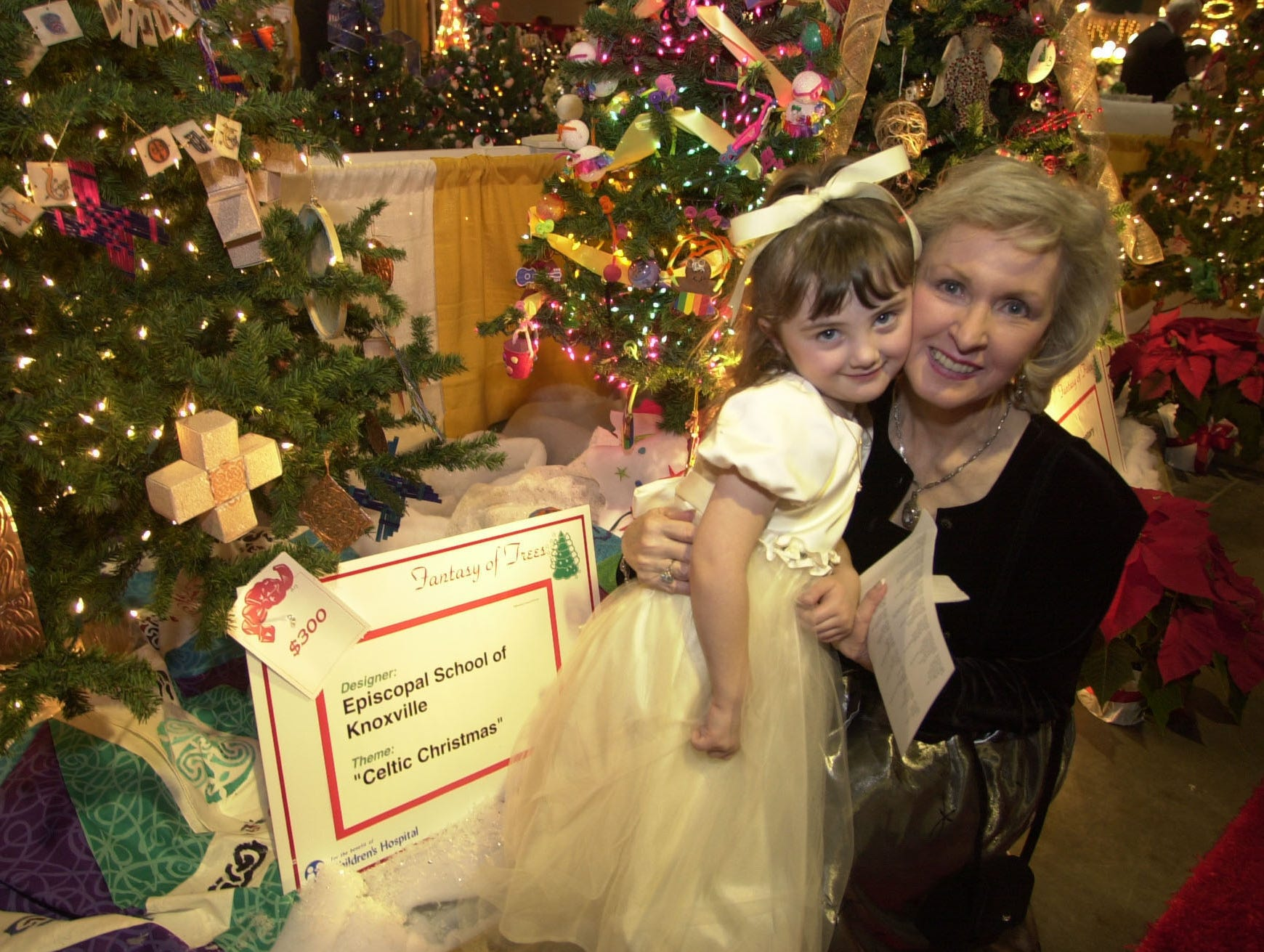 Kaitlin Snipp and her grandmother Phyllis Parrott at the Fantasy of Trees Opening Gala.