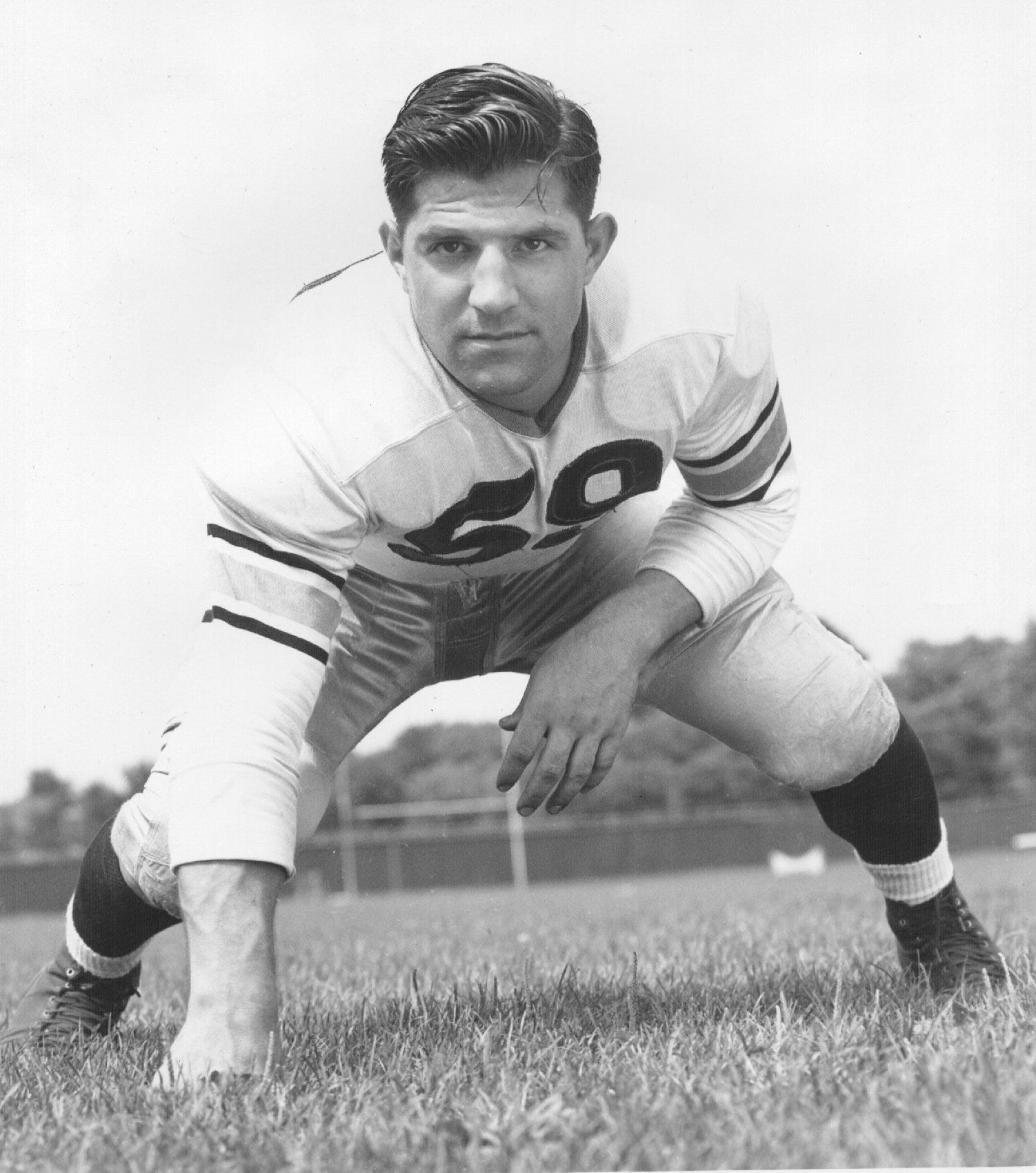 Even though he only played for Purdue in 1943, Alex Agase is a member of the Boilermakers' All-Time team.