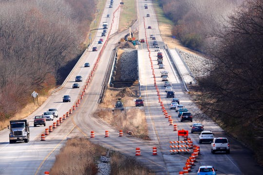 One lane will close on the Sagamore Parkway bridge in West Lafayette on or after Monday, April 1.