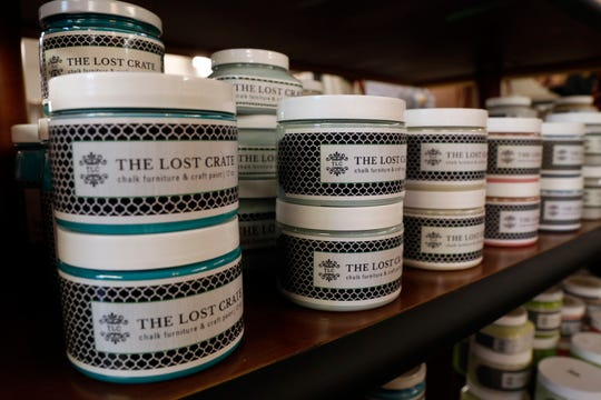 The Lost Crate has it's own line of chalk furniture and craft paint that will be sold at the store on West Fair Avenue in Lancaster.