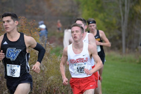 Pinckney's Ryan Talbott (105) is going to the NCAA Division II cross country meet with his Saginaw Valley State University teammates.