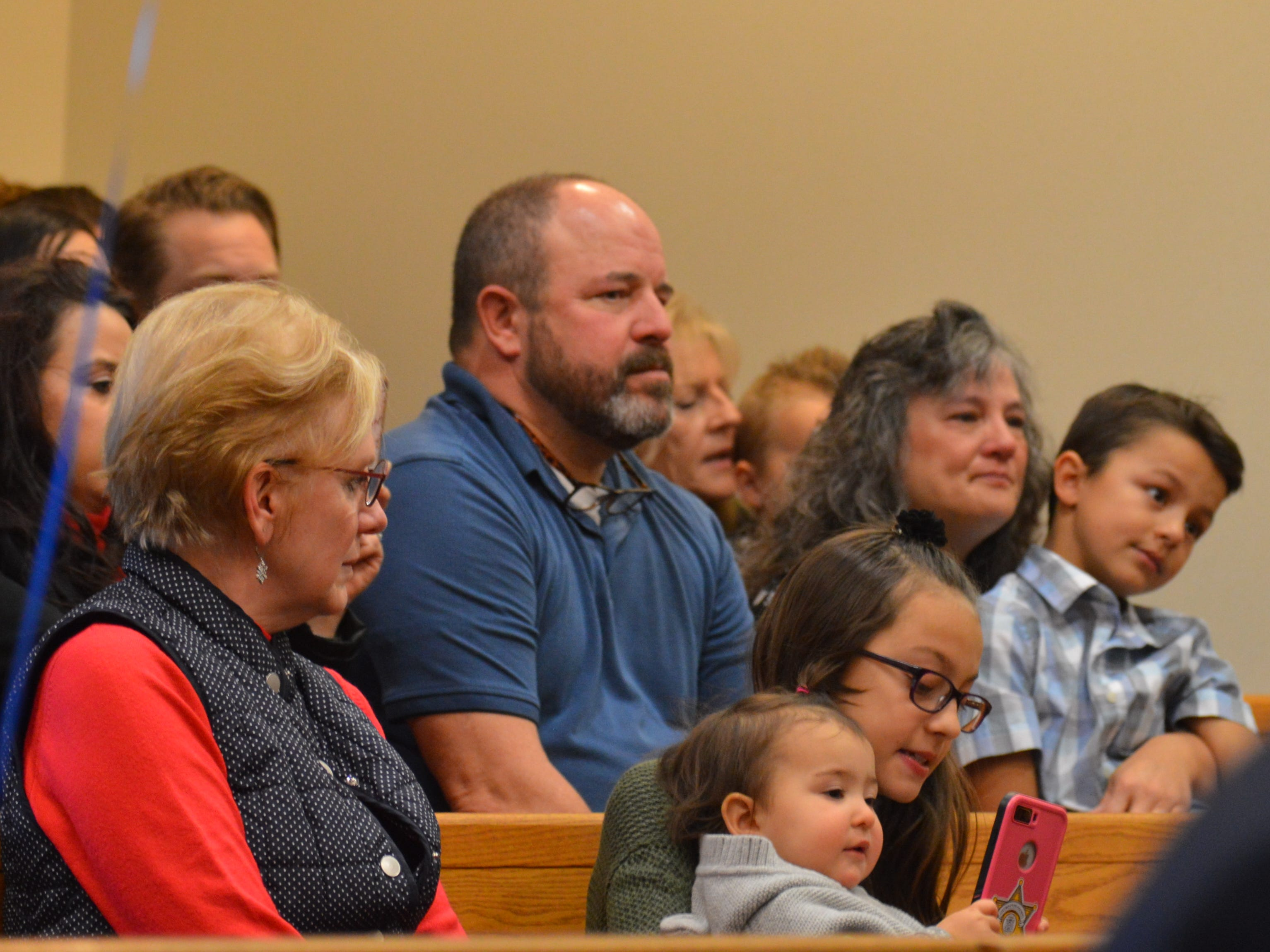 Family of Danielle and David Elliot watch as the couple gains two more kids on Nov. 20, 2018.