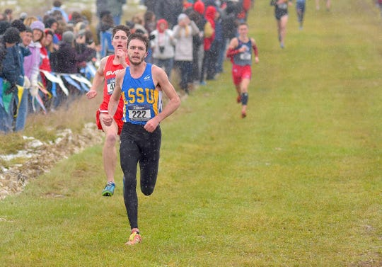Howell's David Mitter (222), a sophomore at Lake Superior State University, finished eighth in the NCAA Division II Midwest Region cross country meet.