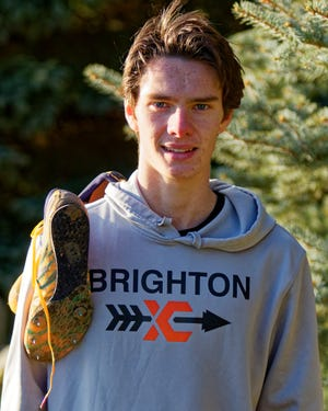 Brighton junior Zach Stewart is Livingston County's boys cross country Runner of the Year for the second straight season.