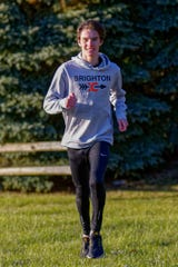Brighton junior Zach Stewart finished fourth in the state Division 1 cross country meet, earning all-state for the third time.