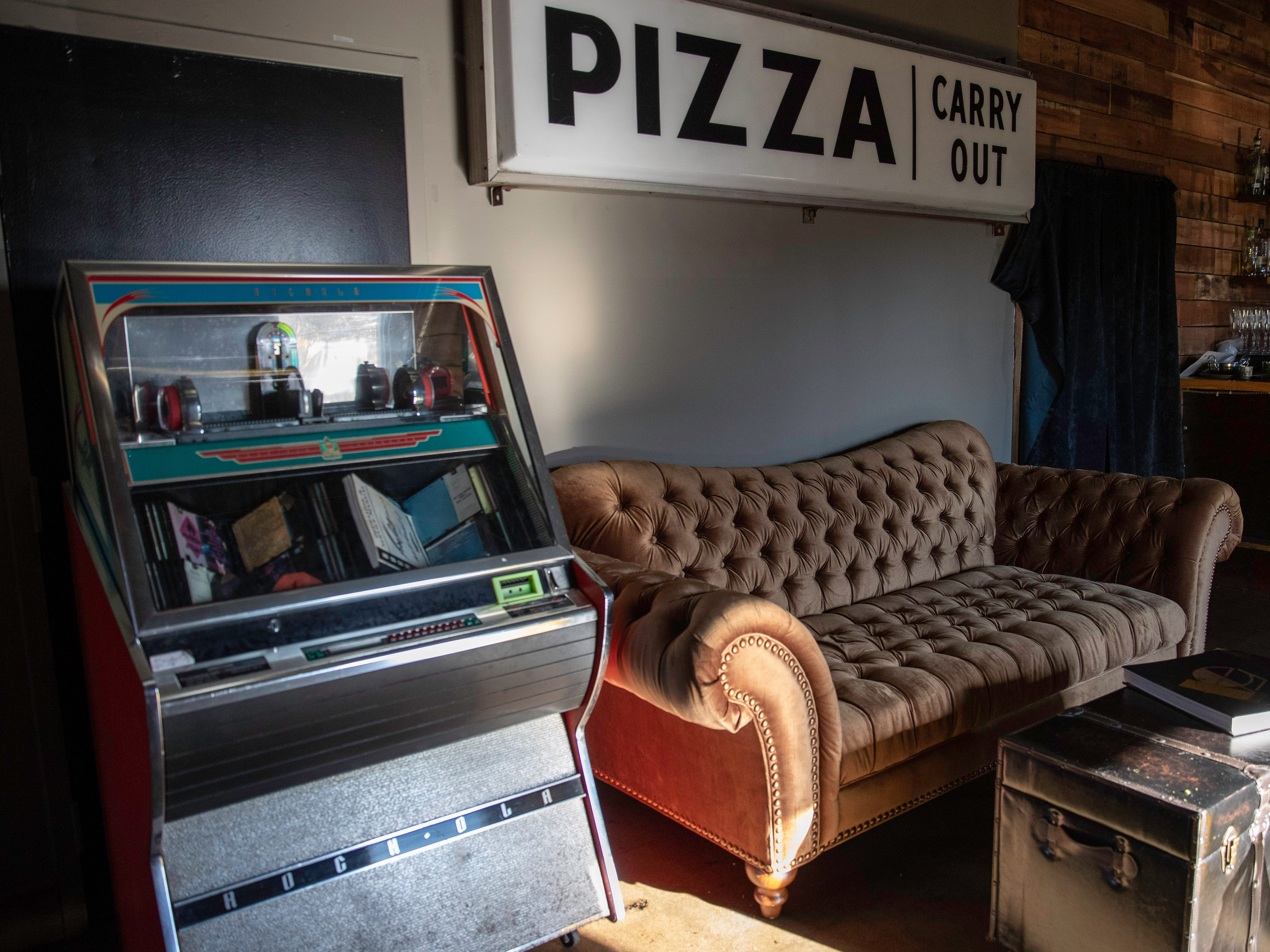 Classic elements create a vintage feel upstairs at Butchertown Pizza Hall, Wednesday, Nov. 7, 2018 in Louisville Ky.
