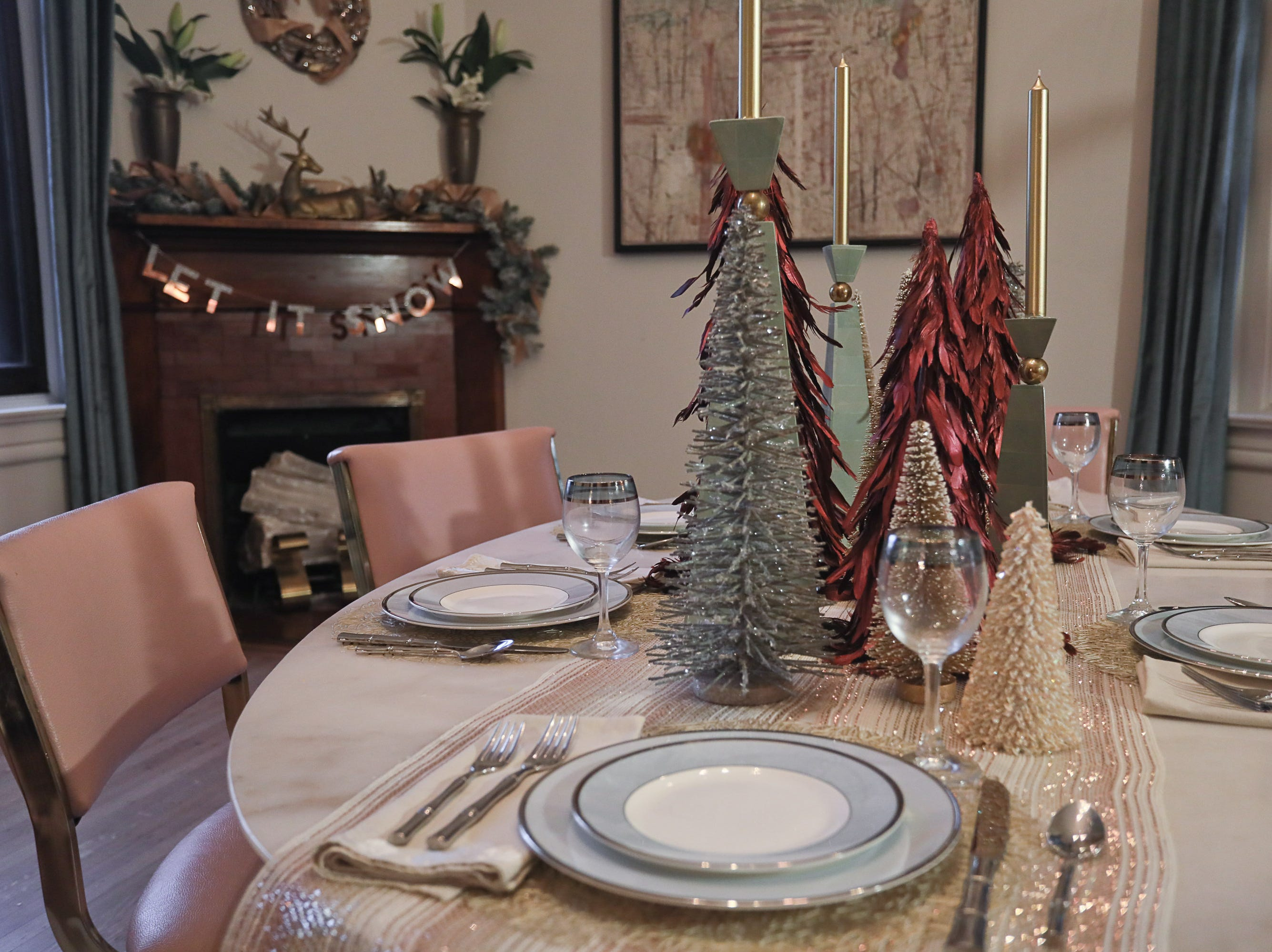 The dining room at the home of Bethany Adams in Louisville, KY. Nov. 13, 2018