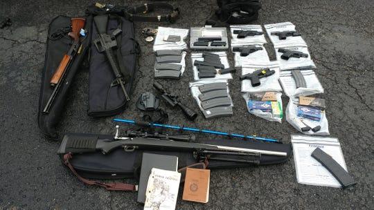 Eight guns found in potential Kentucky mass shooter's car.