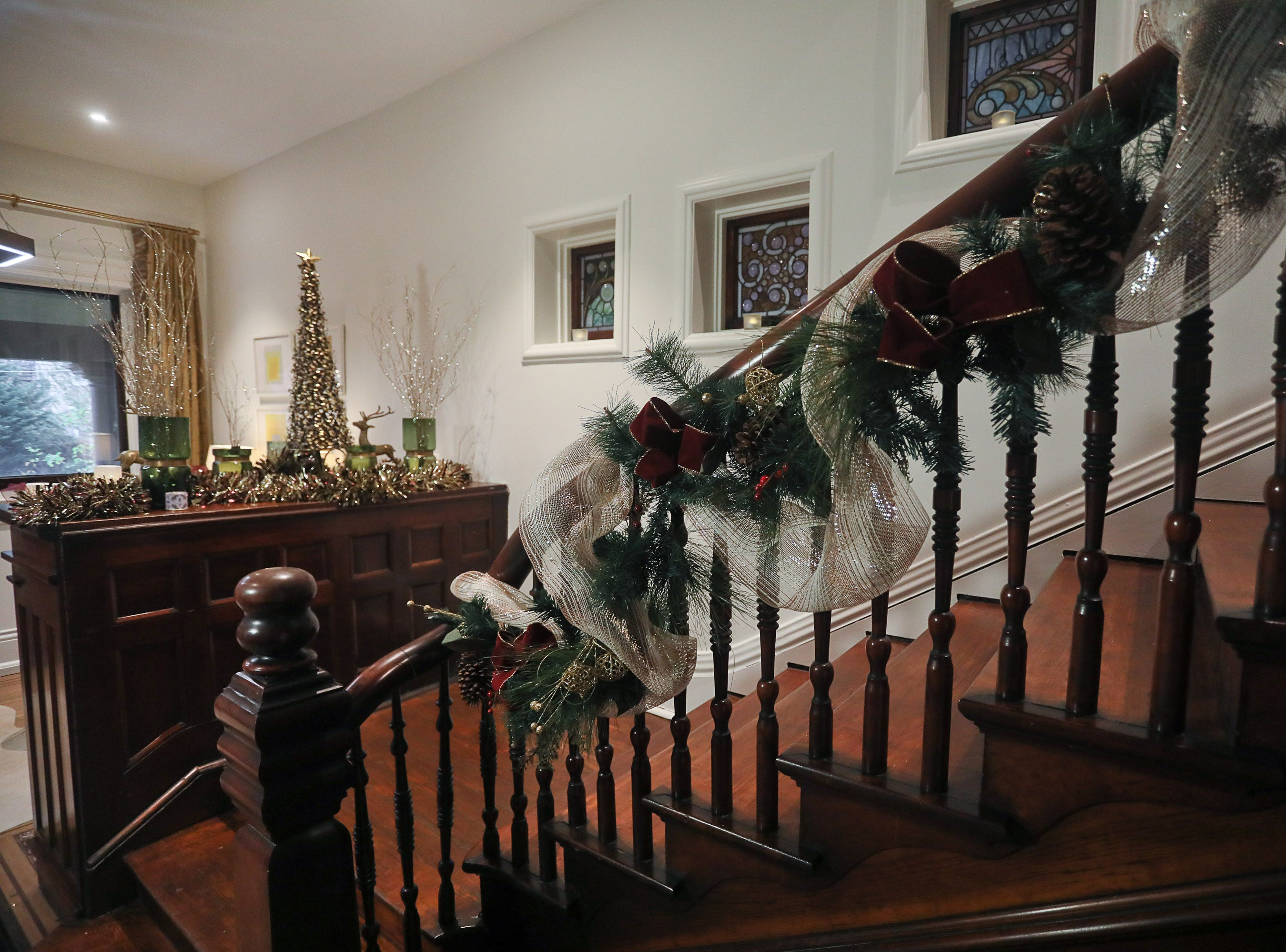 The staircase at the home of Bethany Adams in Louisville, KY. Nov. 13, 2018