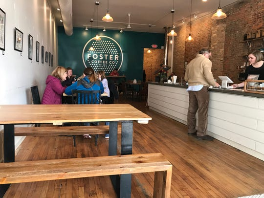 Foster Coffee Company in downtown Owosso. The coffee shop and roastery will open an East Lansing location next year.