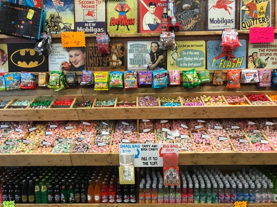 There are more than 100 salt water taffy varieties at Rocket Fizz in Eastwood Towne Center.