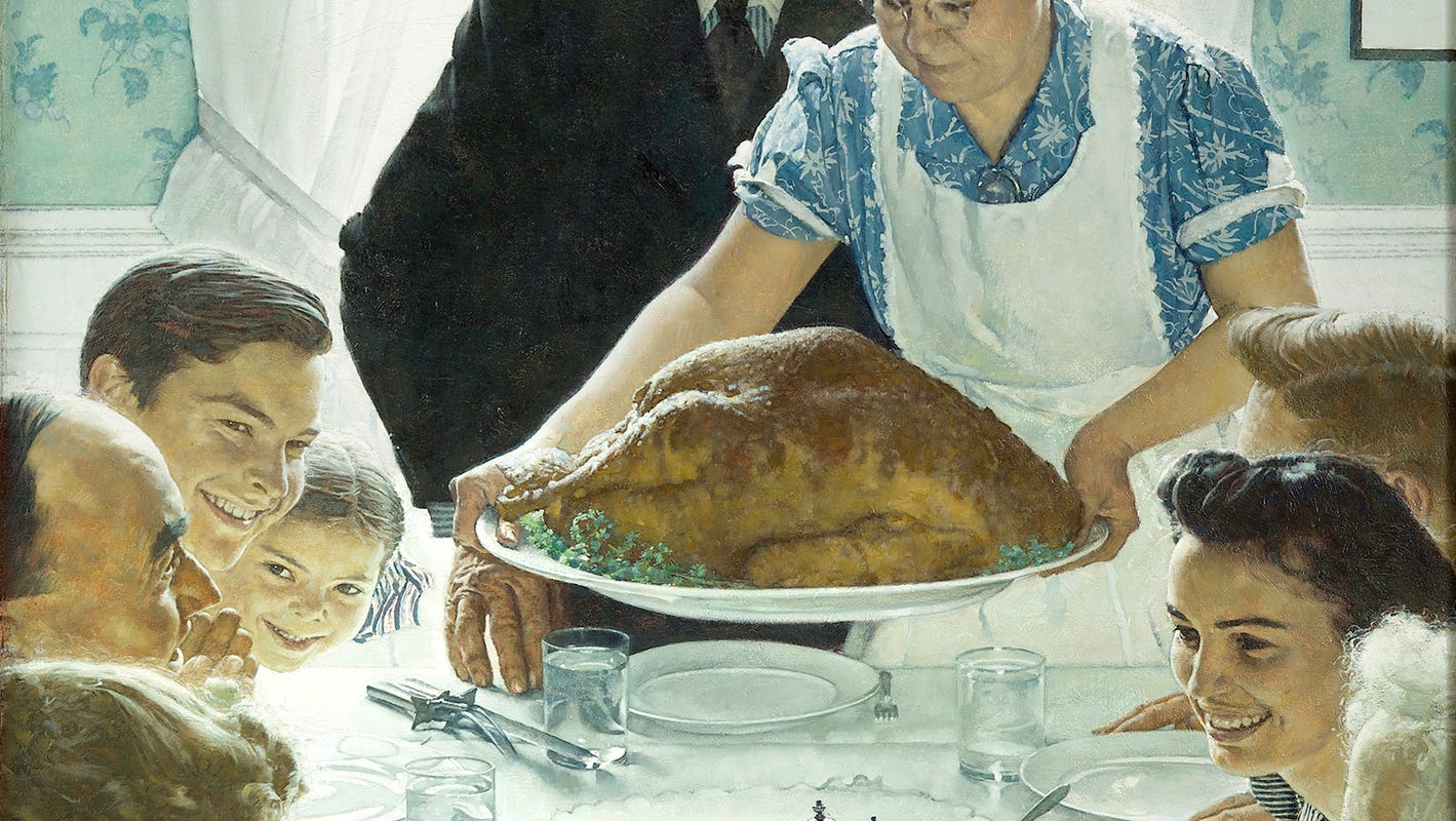 Manitowoc Art Forward: Norman Rockwell Freedom from Want, Thanksgiving