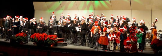 'Festival of Christmas' will be presented by the UW-Green Bay, Manitowoc Campus Lakeshore Wind Ensemble (pictured) Dec. 1at the Capitol Civic Centre.