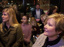 Family and friend watching Reagan's Strange performance at NBC's Voice watch party at Kooky Canuck in Cordova.
