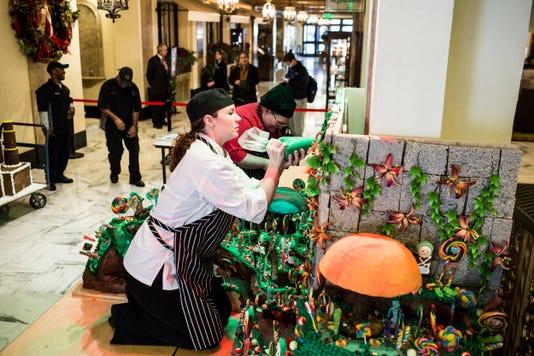 Peabody Hotel Annual Gingerbread Display