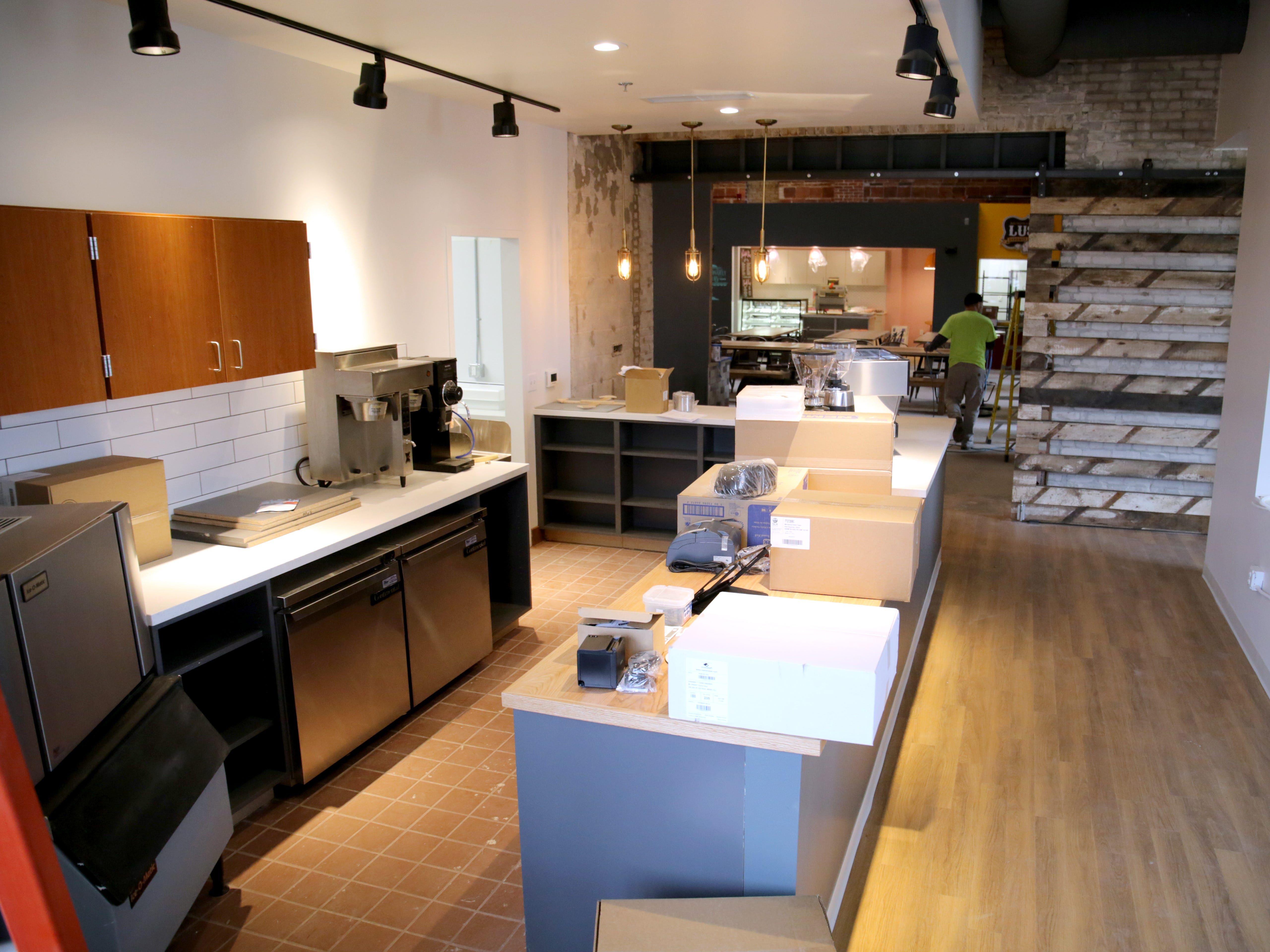 Work is underway to prepare Shindig Coffee for opening. It will be located on the first floor of the Sherman Phoenix.