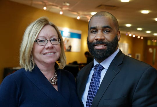 Carrie Wall (left), CEO of YMCA of Metropolitan Milwaukee, and board member Kalan Haywood Sr. have been working together with the board on a  new blueprint for the organization.