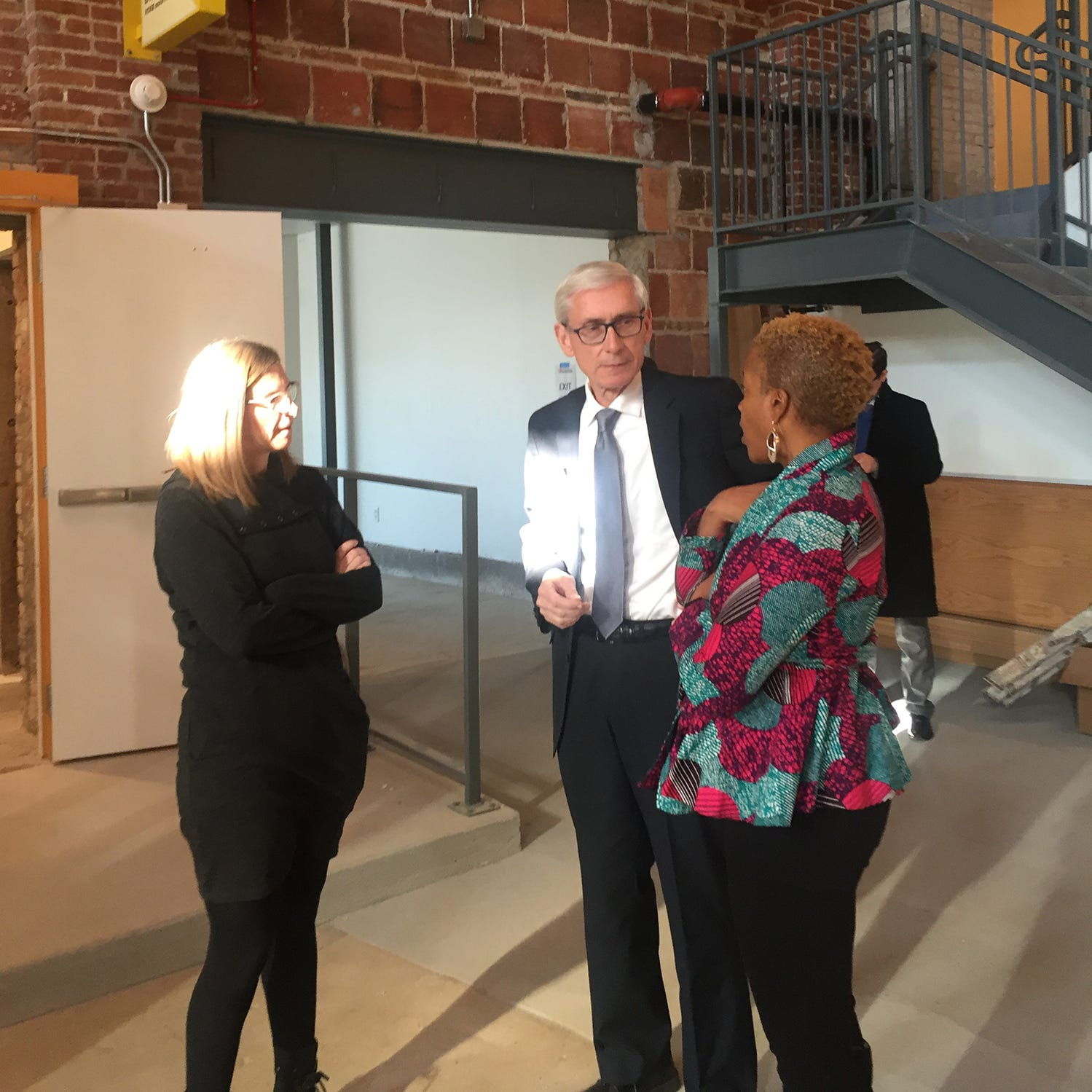 Gov.-elect Tony Evers tours Sherman Phoenix and talks economic development on first visit to Milwaukee since election