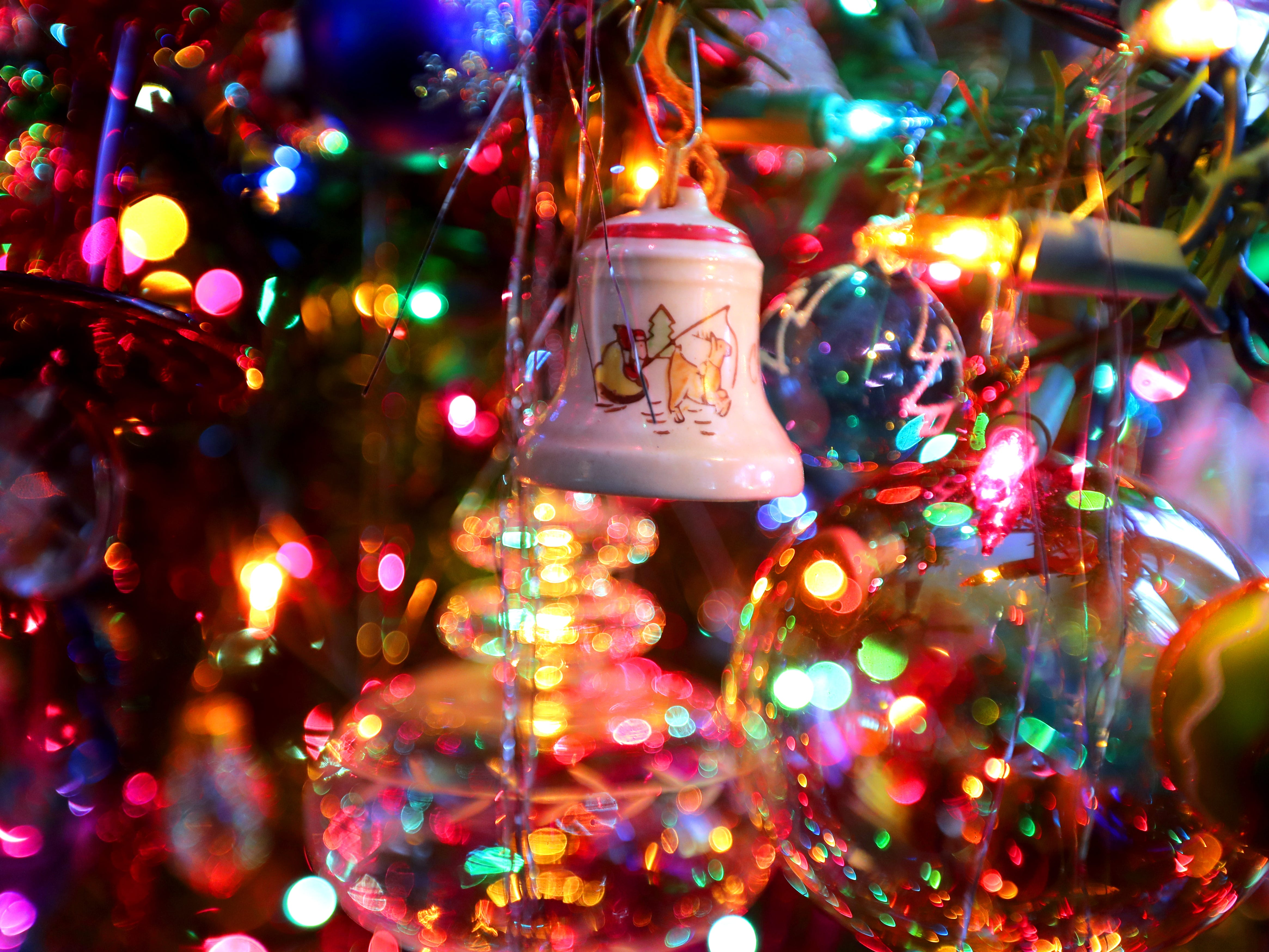 An antique bell, handed down from Kim Harrison's grandmother, is one of her favorite ornaments.
