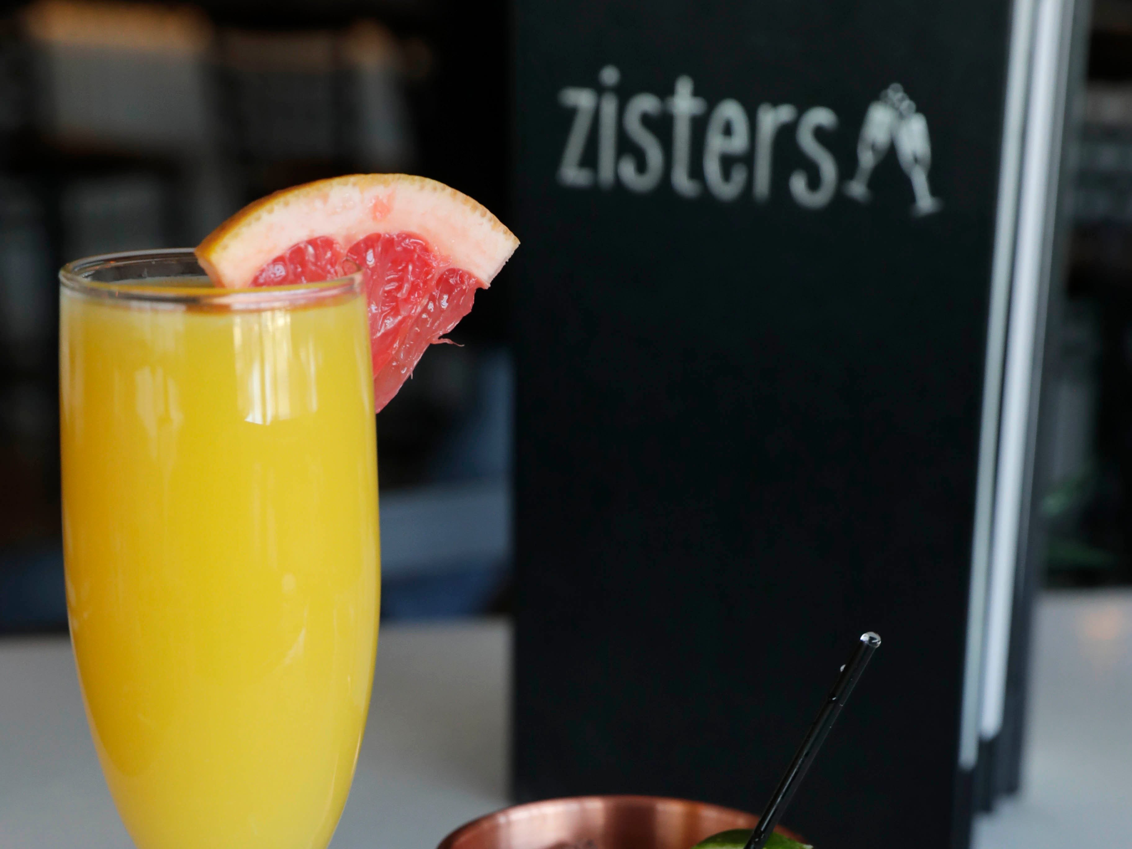 Grapefruit Mimosa and a Champers Mule  are popular drinks at Zisters in Elm Grove.