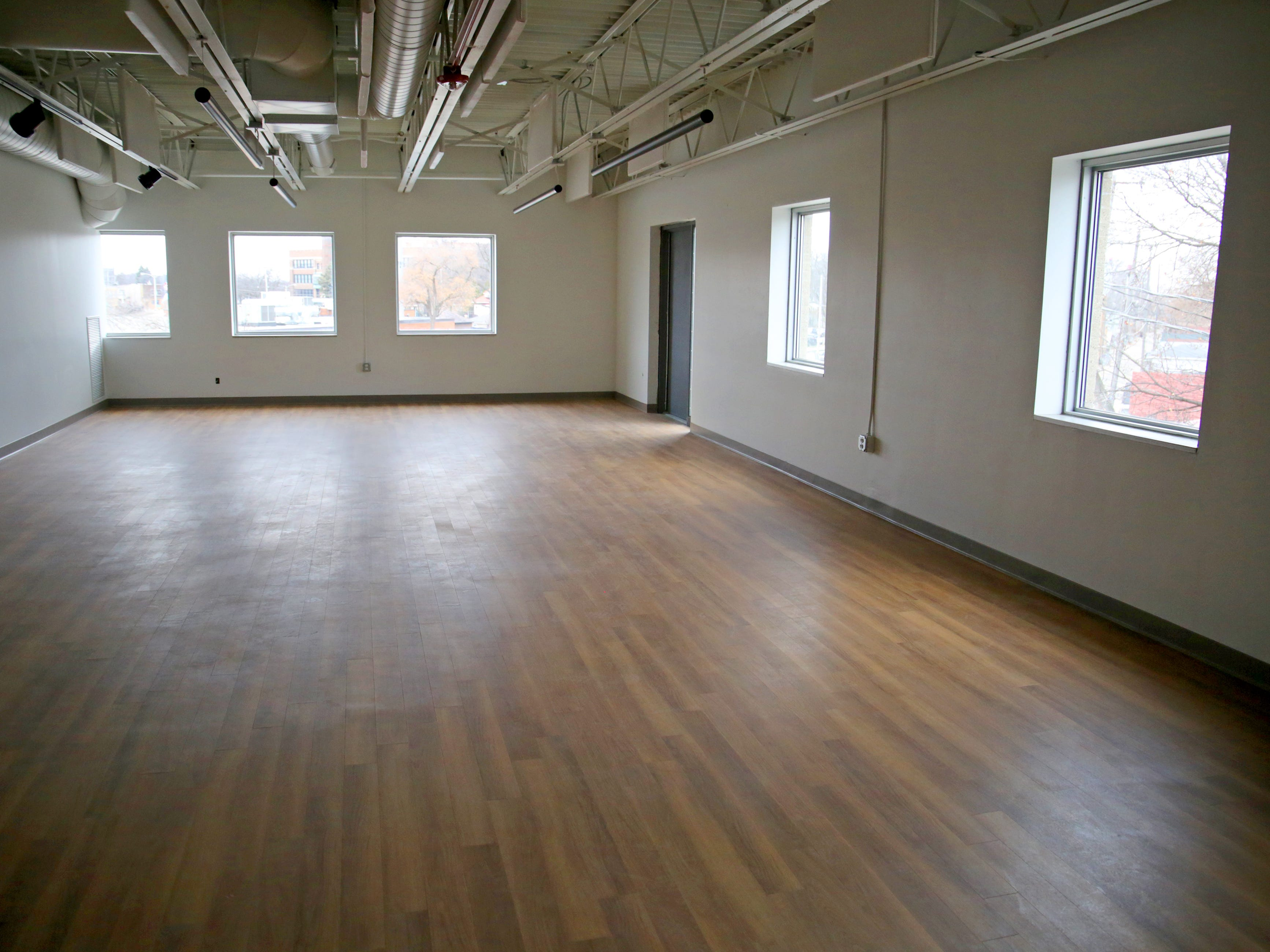 A large studio on the third floor will be home to Embody Yoga.