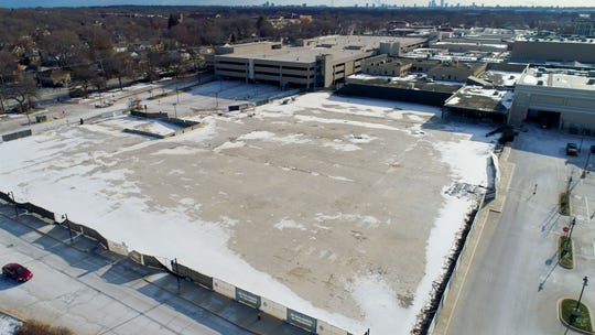 A vacant lot where a Sears store used to be until it was closed in December 2014 and demolished in the fall of 2017 at Bayshore Town Center in Glendale.