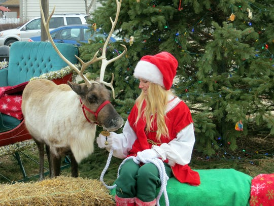 The Delafield Chamber welcomes Santa and his live reindeer every year while also serving breakfast.