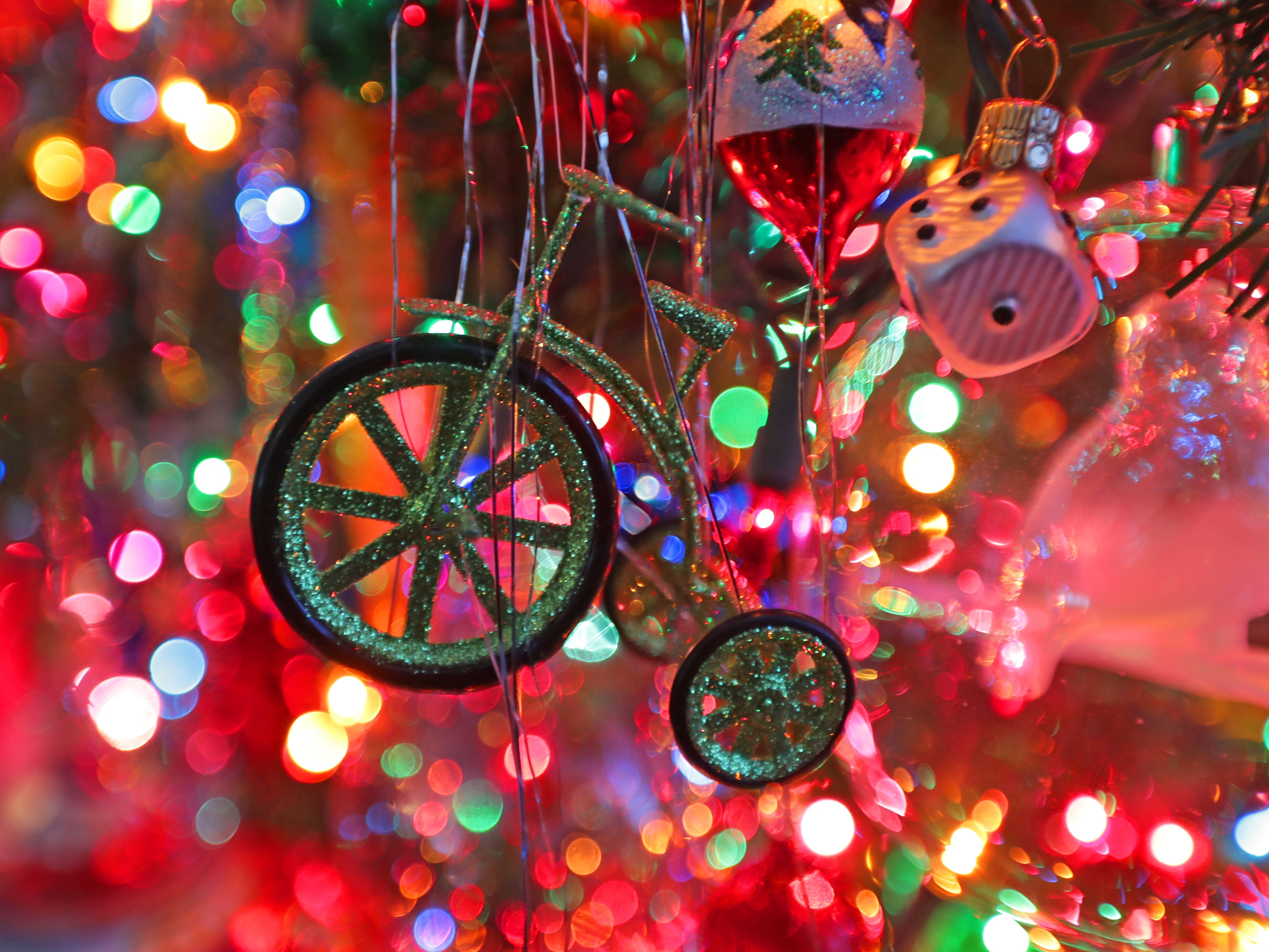 This glitter bicycle is one of Kim Harrison's favorite ornaments.