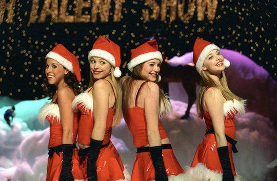 "The gal pals sing ""Jingle Bell Rock"" at the school talent show in ""Mean Girls."""