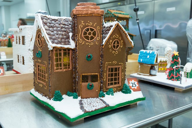 Fanciful gingerbread houses like this one from 2017 will be on display from Dec. 1 to 12 at the Milwaukee Public Market. Elsewhere around town, homemade cookies sales abound.